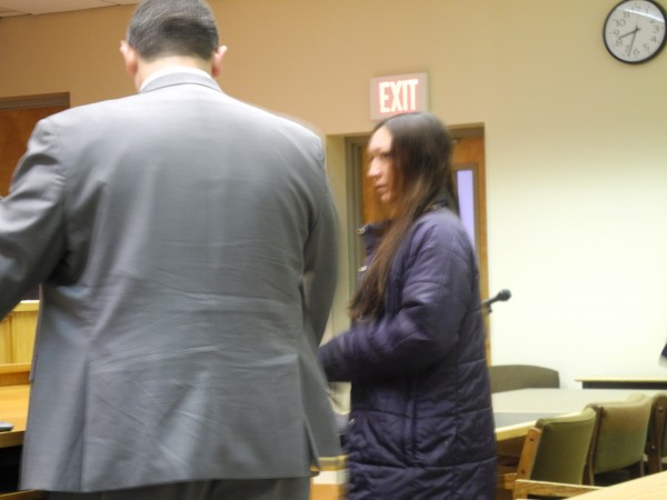 Katrina Mitchell pleaded no contest to a misdemeanor charge of endangering the welfare of a child Tuesday morning at Belfast District Court.