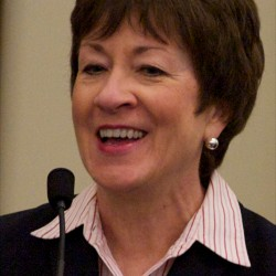 Collins blasts health care bill in Bangor