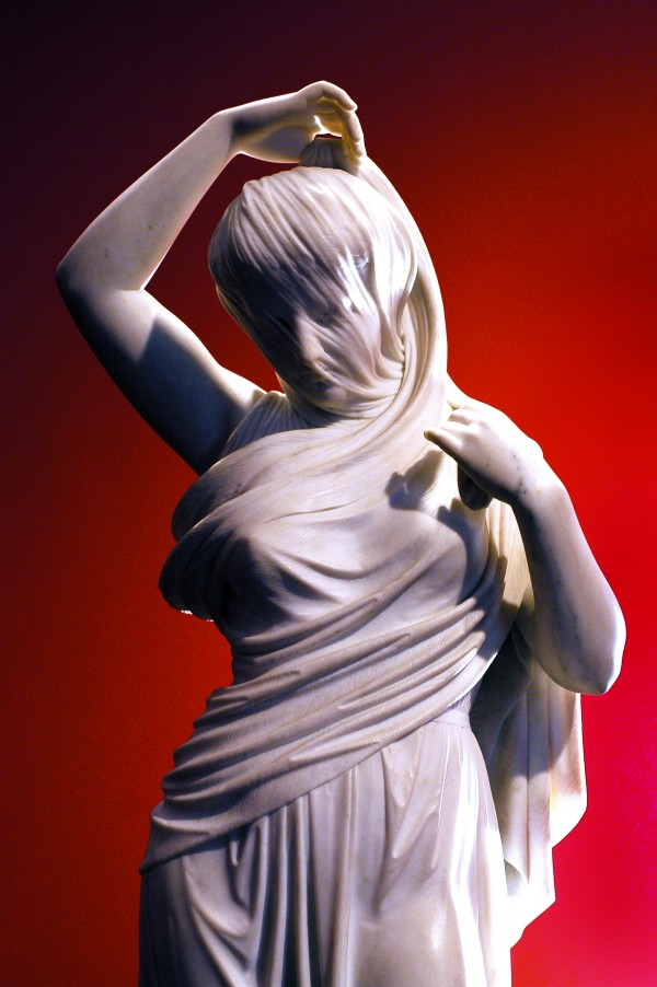 Joseph Mozier's &quotUndine,&quot c. 1867, marble is on display at the Colby College Museum of Art as part of The Lunder Collection.
