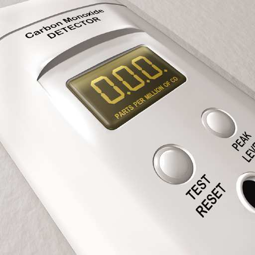 A carbon monoxide detector can help alert residents to dangerous gas leaks from malfunctioning heating units.