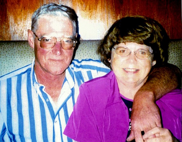 Murder victim Darrel Smith and his wife, Barbara Smith, of Woodland.