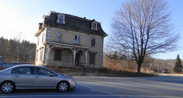 The Franklin Treat house sits at the corner of Route 1A and Loggin Road in Frankfort.