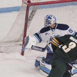 Maine shut out for fifth time in 1-0 loss to Boston University; Ouellette strong for Bears