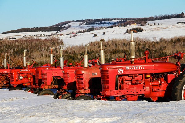 A row of Farmall Tractors in Fort Kent wait for spring in this photo by Michael Gudreau. The picture is included in the 2013 Aroostook calendar created by Alan and Brenda Jepson, who run Crown of Maine productions in Stockholm. Pictures in the calendar showcase The County in all seasons.