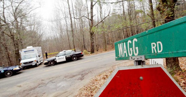 Police discovered the remains of a body in the woods across from Wagg Road in Lisbon on Tuesday, Dec. 4, 2012.
