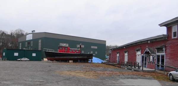 The Front Street Shipyard wants to purchase the former Belfast Maskers building at right and the land at left from the city.