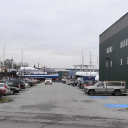 The Front Street Shipyard wants to purchase the city parking area adjacent to its building.