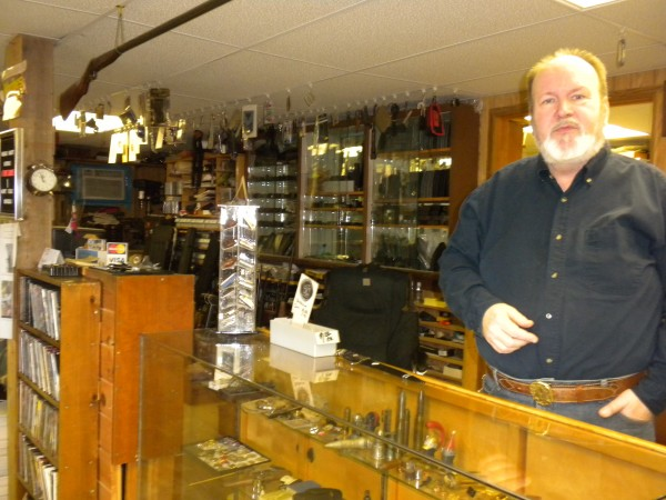 Ralph McLeod, owner of Buyers Guns in Holden