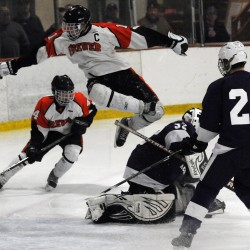 Spencer Valley leads Brewer hockey team past Orono