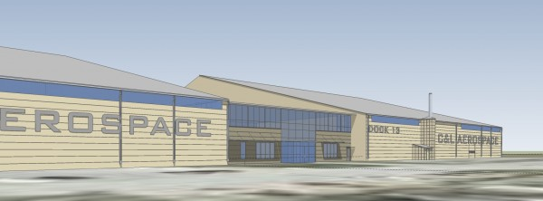 An artist's rendering shows part of the proposed C&L Aerospace expansion at Bangor International Airport. The project could bring 50 to 70 new jobs to the company.