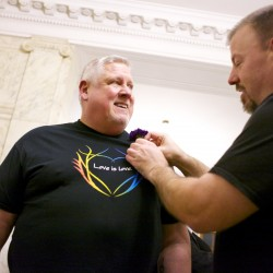 Three same-sex couples tie the knot at Bangor City Hall
