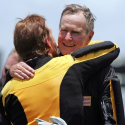 Former President George H.W. Bush remains hospitalized