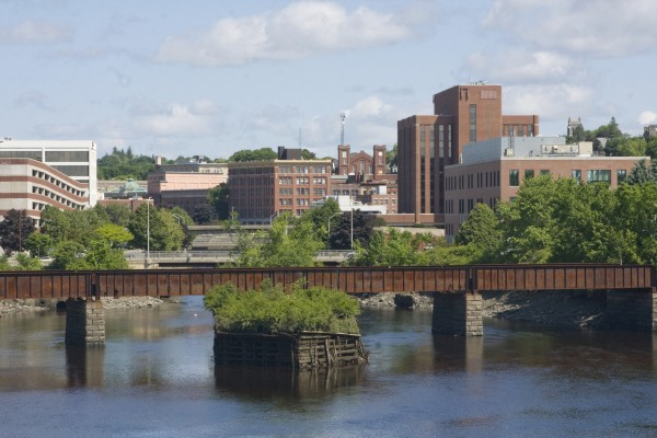 Downtown Bangor, one of Maine's three metropolitan areas.