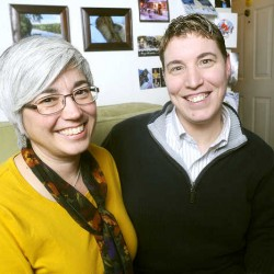 Couple takes Lewiston's first marriage license under same-sex law