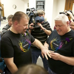 First couples prepare for same-sex wedding ceremonies in Portland