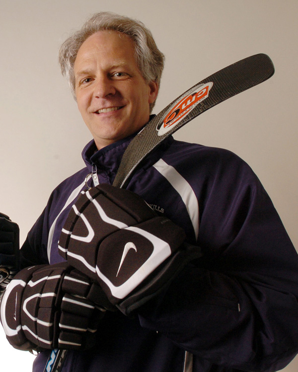 Denis Collins prepares for a summer hockey clinic in 2005. Collins, Bangor High School's head hockey coach resigned after an incident during the team's bus trip to Presque Isle and back Tuesday, Dec. 11.
