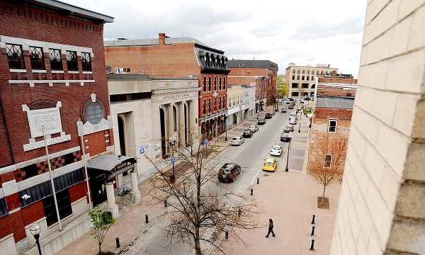 Lisbon Street, downtown Lewiston, Maine.
