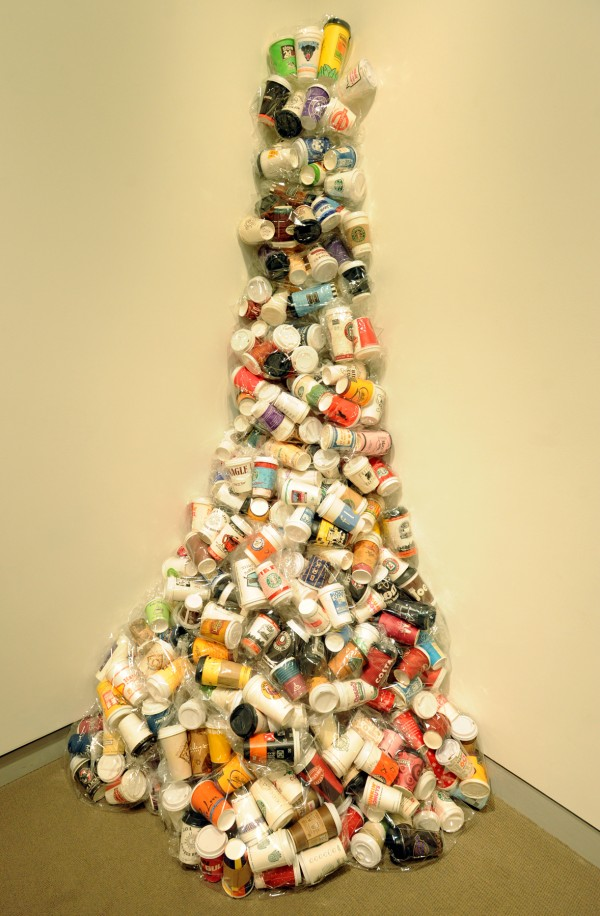 &quotCoffee Spill&quot by Susan Jane Belton on display at the University of Maine Museum of Art.
