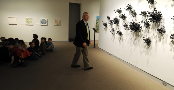 George Kinghorn, director of the University of Maine Museum of Art, gives a press tour through the museum. Kinghorn announced on Tuesday morning that with Penobscot Financial Advisors as their sponsor, the museum will offer free admission throughout 2013.
