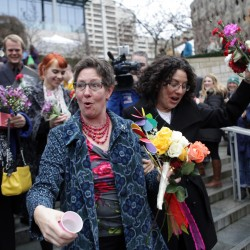 Pride in Supreme Court decision of equal treatment for gay married couples