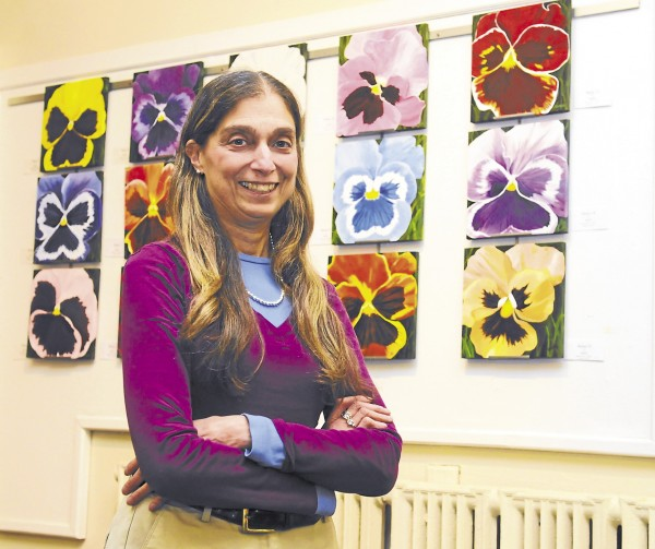 Wendy Libby, an art teacher at Bangor's Fruit Street School, has an exhibition of her personal art at the Bangor Public Library's lecture hall now through Dec. 29. Libby's work is inspired by nature and includes a variety of mediums including watercolor, paper textures, pen and ink, and fiber arts.