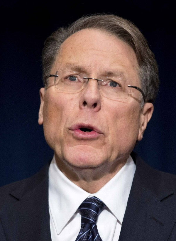 Wayne LaPierre, executive vice president of the National Rifle Association, speaks during a news conference in Washington on Dec. 21, 2012. NRA, the powerful U.S. gun rights lobby, went on the offensive on Friday arguing that schools should have armed guards, on a day that Americans remembered the victims of the Newtown, Conn., school massacre with a moment of silence.