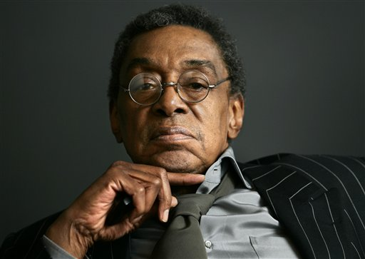 Don Cornelius sits at his office in Los Angeles in March 2006. Cornelius, 75, died Feb. 1, 2012 at his home in Los Angeles.