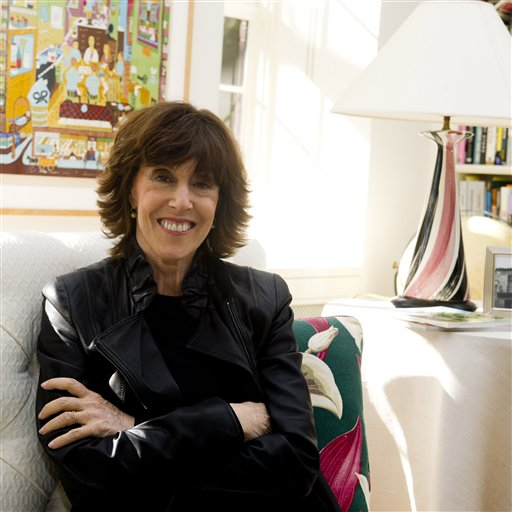 Nora Ephron poses for a photo at her home in New York in November 2010. Ephron, 71, essayist, author and filmmaker who thrived in the male-dominated worlds of movies and journalism and was loved, respected and feared for her wit died June 26, 2012.