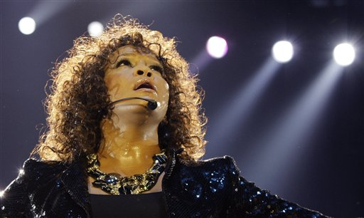 U.S singer Whitney Houston performs in London as part of her European tour in April 2010. Houston, 48, died Feb. 11, 2012.