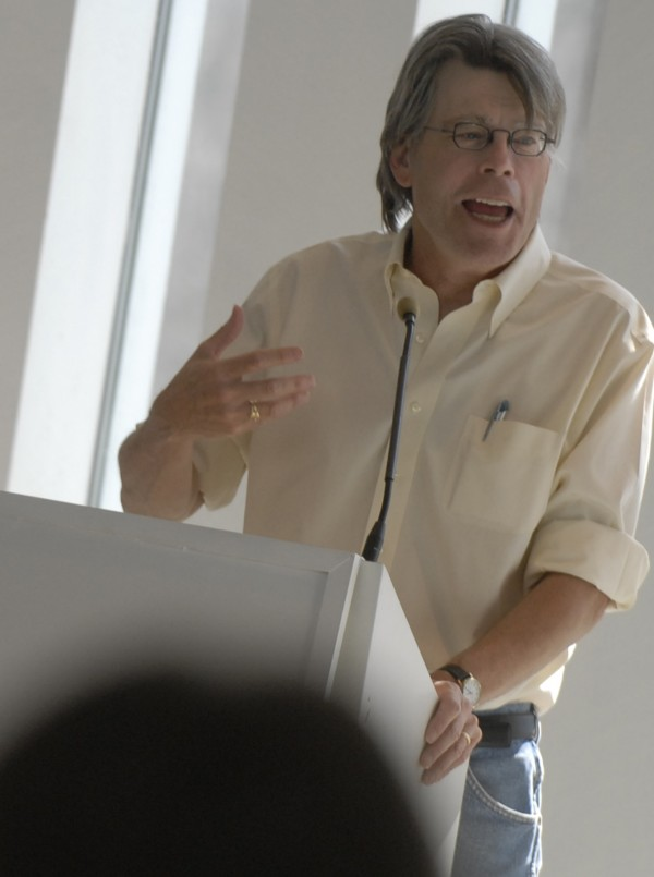 Stephen King speaks at the University of Maine in Orono in 2008.