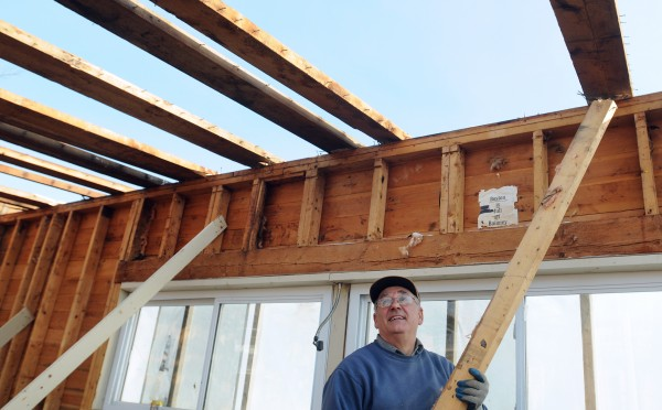 Victor Smith of Sedgwick is overseeing the renovation work at the former Country View Drive-In in Sedgwick.