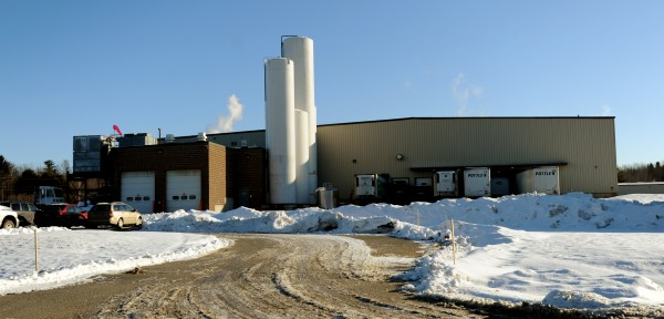 The Garelick Farms milk plant on Milk Street on Friday, the last day of production. Garelick employees 35 people at the Bangor plant.