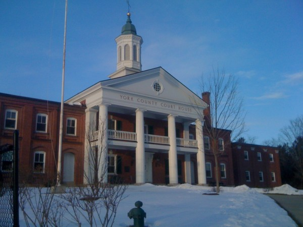 Jury selection has started for The State of Maine v. Mark Strong trial at the York County Court House Tuesday morning in Alfred, Maine.
