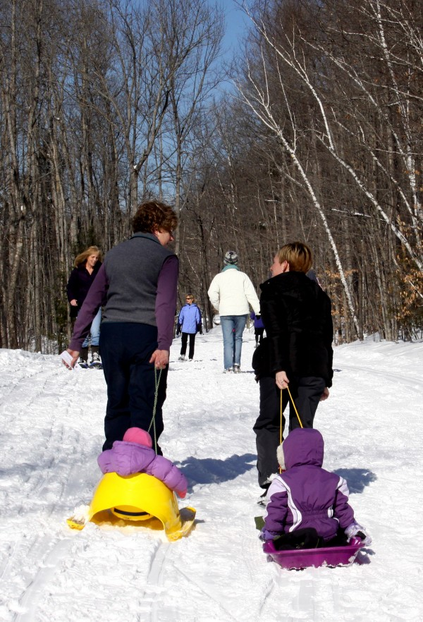 Families enjoy outdoor activities at the Waterville's annual Winter Carnival on Feb. 5, 2011, at Quarry Road Recreation Area.