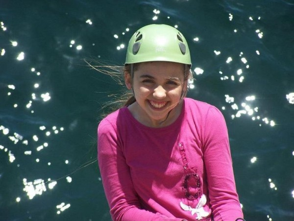 After receiving a liver transplant at 15 months, Tigerlily White, now 12, lives the life of a regular kid. She enjoys rock climbing and attends Falmouth Middle School.
