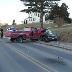 An early morning two-vehicle collision on Main Street in Jonesport on Sunday, Jan. 27, 2013, killed driver Randy Thistlewood, 56, of Jonesport and hospitalized the other driver, Peta Johnson, 52, of Beals.