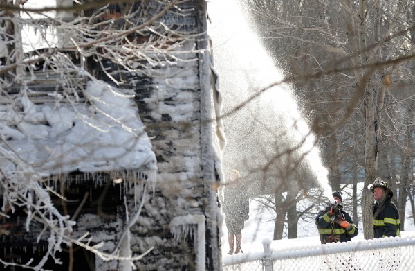 Bangor Fire Department responded to a house fire around 1:00 a.m. Thursday on Court Street, in which one person was in the house and managed to escape. There were still a few hot spots in the back of the house that firefighters were tending to later in the morning.