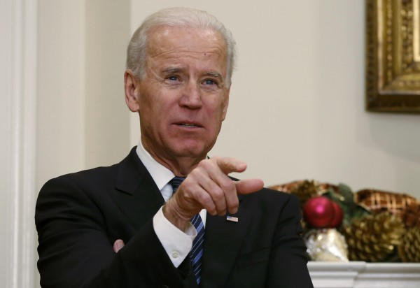 U.S. Vice President Joe Biden attends the announcement of Sen. John Kerry's nomination as Secretary of State, at the White House in Washington on December 21, 2012.