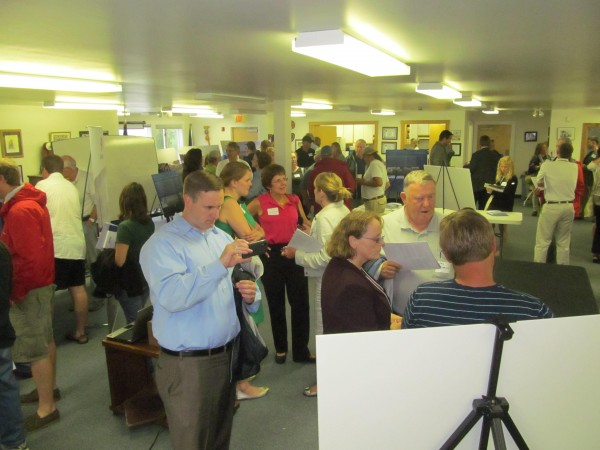 More than 70 people turned out for an informational session Monday, June 25, 2012, hosted by Statoil North America, which seeks to build a four-tower pilot deep-water wind generation project off the Maine Coast.
