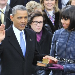 Obama sworn in for second term in White House ceremony