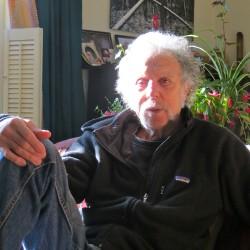 Stu Silverstein — filmmaker, artist, bread baker, wood-fired stove builder, family man — at home in Waterville.
