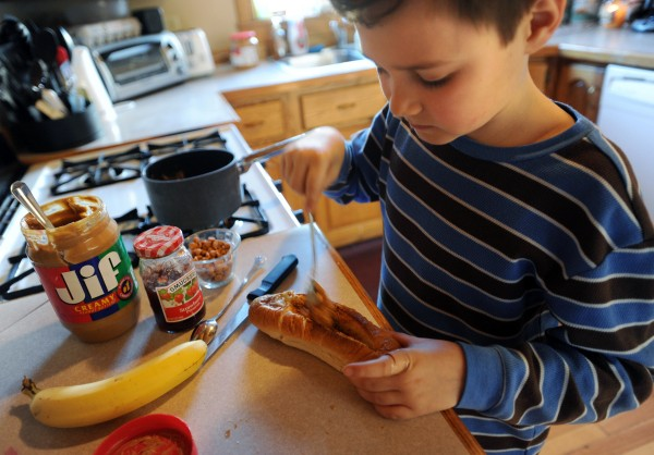 Micah Shamlian, 9, of Carmel has made it to the final ten in a competition held by Jif for the best peanut butter and jelly sandwich recipe. Micah's Banana Dog would win him $25,000 if his recipe wins first place.