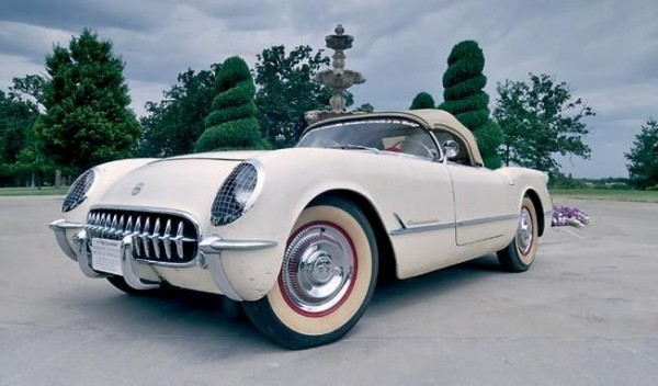 This 1954 Chevrolet Corvette Roadster, which spent 27 years bricked into a vault inside a Brunswick building, —is expected to sell for at least $175,000 at auction Saturday, Jan. 19, 2013.