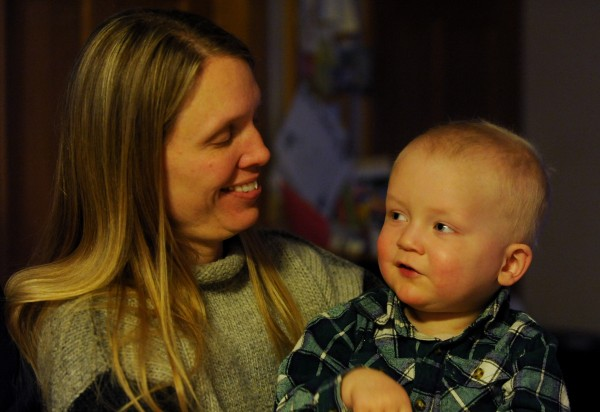 Camden Bryant sits with his mother Sheri at the families Eddington home on Friday, Jan. 25, 2013. Camden is being treated for leukemia and will not know if he is disease free until he is almost 10 years old.