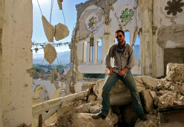 Bryn Mooser in Haiti in 2010, shortly after the devastating earthquake.