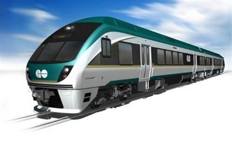 This Diesel Multiple Unit rail car model by Japanese manufacturer Nippon Sharyo was provided by Tony Donovan, founder the Maine Rail Transit Coalition, as an example of the type of rail car likely to be used in a proposed Portland-to-Auburn commuter line. Nippon Sharyo opened its first United States factory in the summer of 2012 in Illinois in response to what the company sees as an emerging American market.