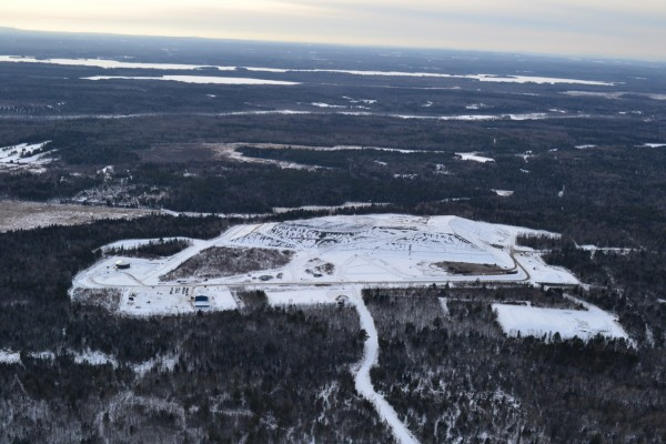 Juniper Ridge landfill with Pushaw Lake backdrop. Photographed Jan. 22, 2012.