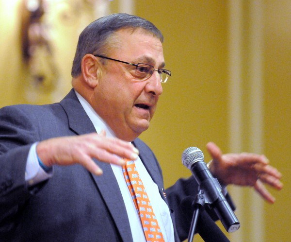 Governor Paul LePage in Rockland on Saturday, March 3rd, 2012.