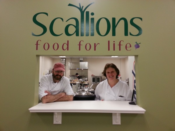 Charles &quotBim&quot Evans and Diana Evans stand in their new eatery, Scallions, in Belfast recently.
