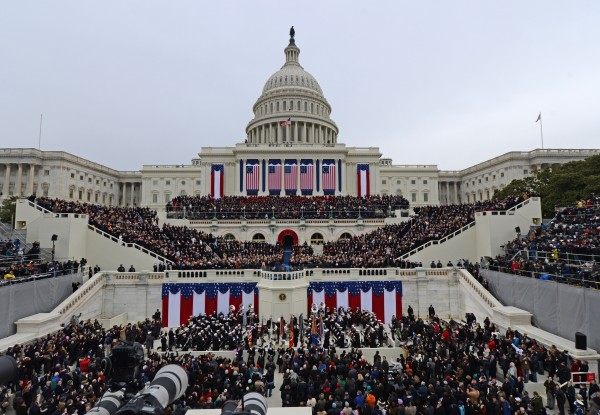 President Barack Obama is sworn-in during the ceremonial swearing-in at the U.S. Capitol during the 57th presidential inauguration in Washington, D.C., Monday, Jan. 21, 2013.